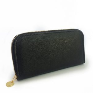 Single zip ladies wallet/purse in Black