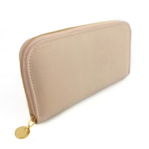 Single zip ladies wallet/purse in Ballet Pink