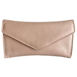 Genuine Leather Envelope Clutch