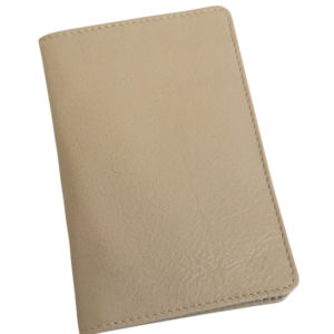 Genuine leather Taupe Passport Cover