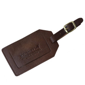 Genuine Leather Luggage Tag Saddle