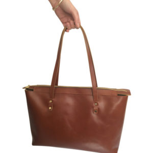 The Genuine Leather Perfect Zipped Tote handbag
