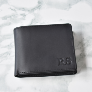 Black Genuine leather Mens Billfold wallet- made in South Africa