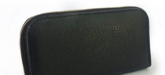 Single zip ladies wallet/purse in Black