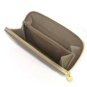 Single zip ladies wallet/purse in Taupe/Stone