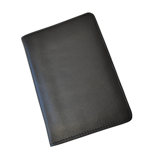 Genuine leather Classic Black Passport Cover- Made in South Africa Gifting