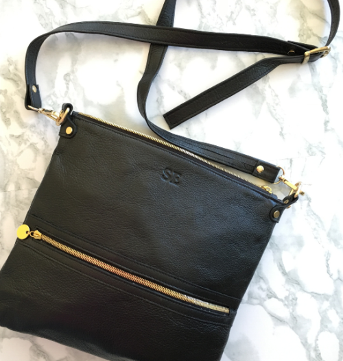 Genuine Leather Crossbody Bag Made in South Africa Classic Black