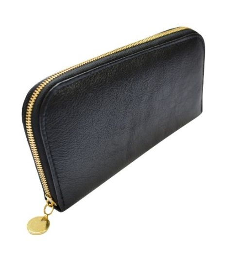 Black Single Zip Ladies Purse/Wallet Made in South Africa Genuine Leather