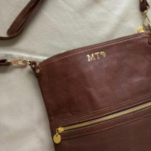 Genuine Leather Brown crossbody bag