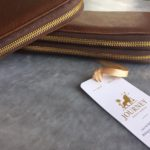 Double and singe genuine leather ladies purses/wallets
