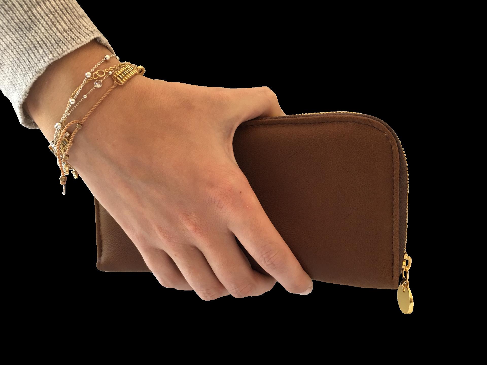 Brow Genuine leather ladies wallet