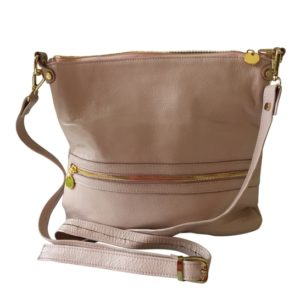 Pink Genuine leather crossbody