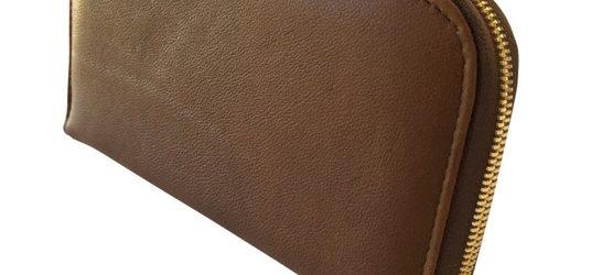 Single zip ladies wallet/purse in brown
