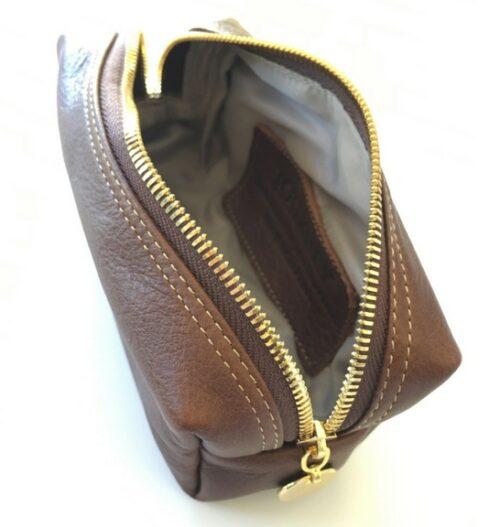 brown small loaf make up bag 1