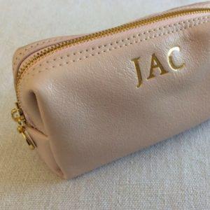 pink make up loaf bag
