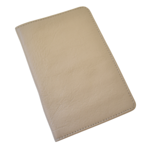 Genuine leather Taupe Passport Cover- Made in South Africa Gifting