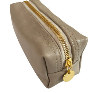 Genuine leather Taupe Small Loaf bag