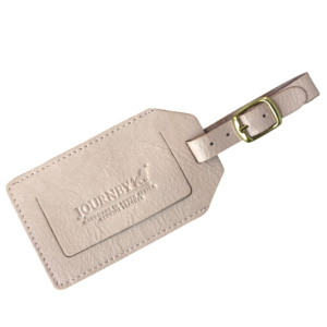 Genuine Leather Luggage Tag Pink