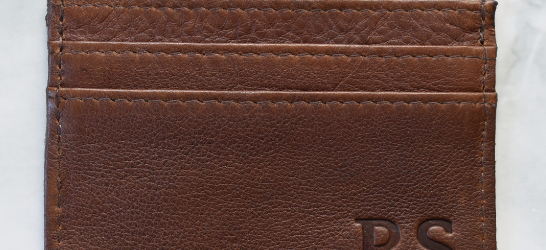 Genuine leather Brown Card holder- Handcrafted in South Africa