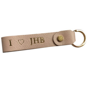 Genuine leather loop keyring
