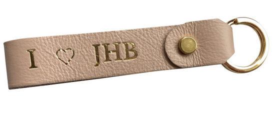 Genuine leather loop keyring