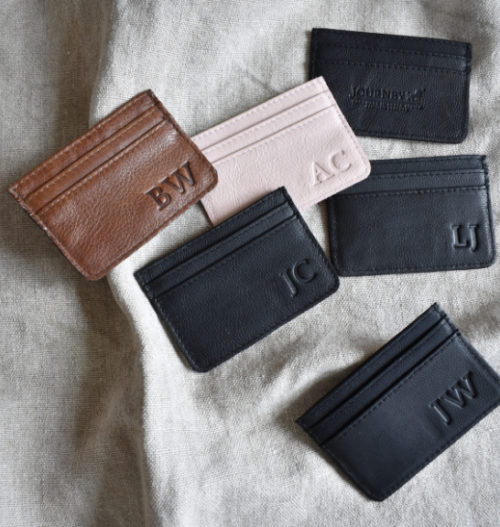 Genuine Leather Cardholder. Proudly handcrafted in South Africa by Journey Leather. Available with monogramming.
