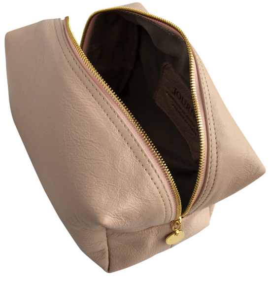 Genuine leather Large Loaf/Toiletry/Cosmetic Bag