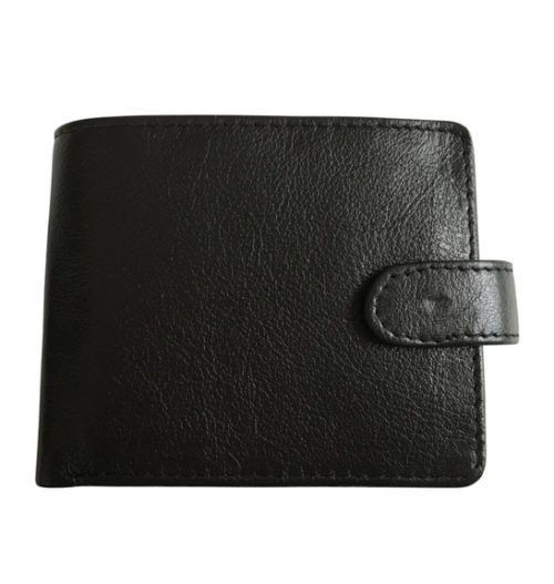 Genuine leather Bi-Fold Wallet with Tab
