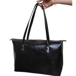 Genuine leather perfect zipped tote- made in South Africa
