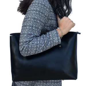 Genuine leather perfect zipped tote handbag- made in South Africa