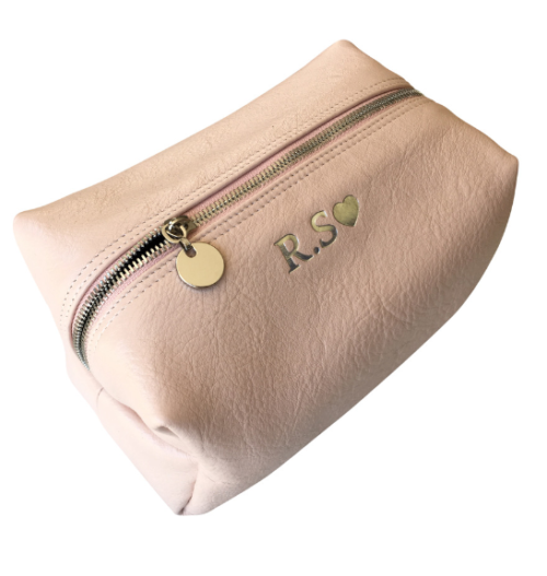 Genuine leather Large Loaf Toiletry Cosmetic Bag