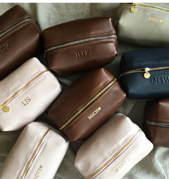 Genuine Leather Large Loaf Toiletry Bag. Proudly made in South Africa by Journey Leather. Available with monogramming.