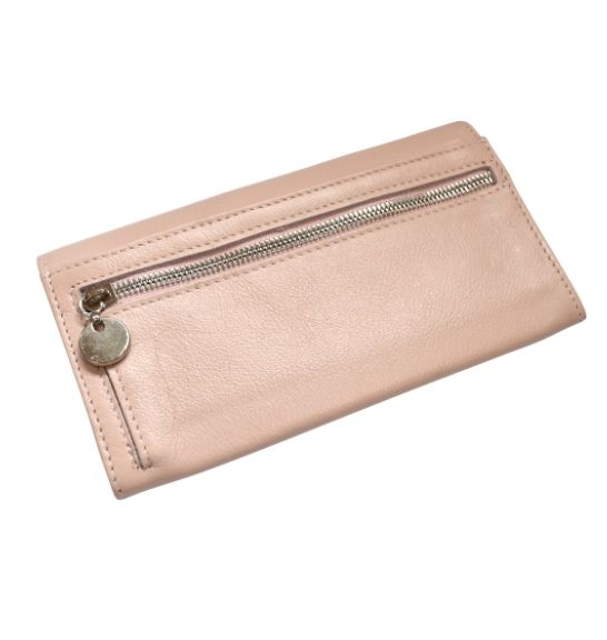 Genuine Leather Classic Ladies Purse, Proudly hand-crafted/Made in South Africa- Pink