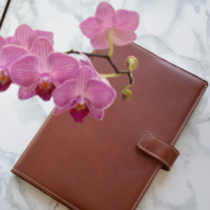 Personalised Genuine leather Notebook Cover- Handmade in South Africa