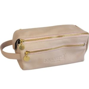 Genuine Leather Toiletry Pink Toiletry bag- Made in South Africa with Personalisation