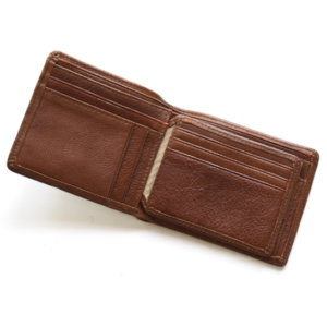 Brown Genuine leather Mens Billfold wallet- made in South Africa