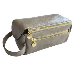 Genuine Leather Toiletry Taupe Toiletry bag- Made in South Africa with Personalisation