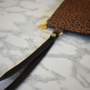 Genuine leather Limited edition Leopard print pouch- Proudly made in South Africa