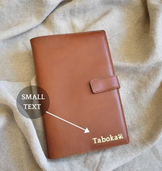 Genuine Leather A5 Notebook Cover. Available with personalisation. Handcrafted with pride in South Africa by Journey Leather.