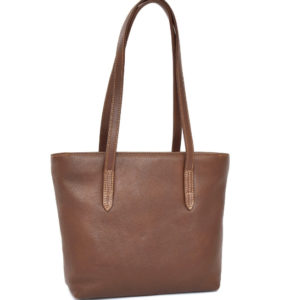 Saddle Brown Plush everyday Genuine Leather Tote Handbag- Made in South Africa