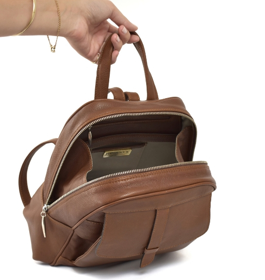 Genuine Leather Saddle Brown Luxurious Backpack- Handcrafted/handmade in Cape Town