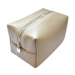 Genuine Leather Toiletry Taupe/Stone/Beige Toiletry bag- Made in South Africa with Personalisation