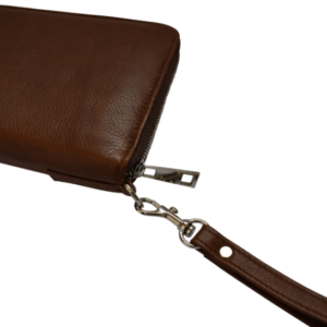 Genuine Leather Travel Wallet- made in South Africa with custom Personalisation -Brown