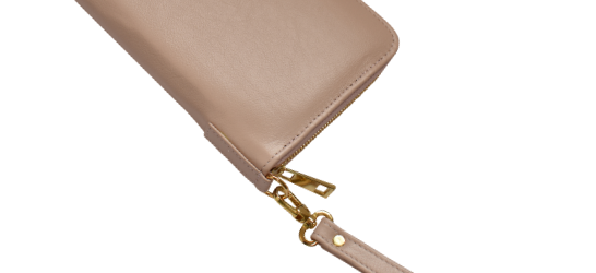 Genuine Leather Travel Wallet- made in South Africa with custom Personalisation -Ballet Pink
