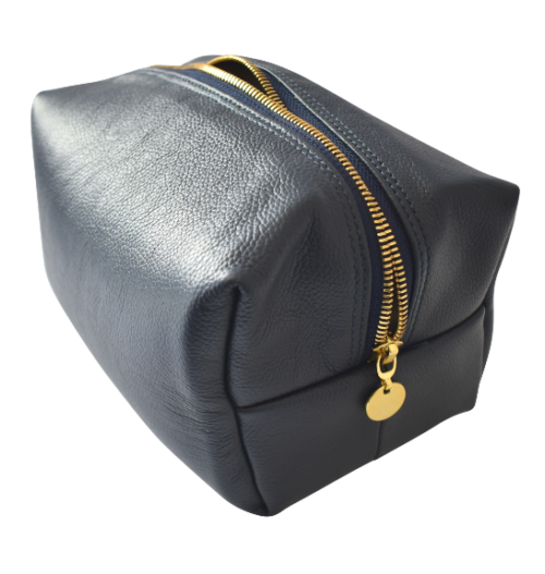 Genuine Leather Toiletry Royal Navy Toiletry bag- Made in South Africa with Personalisation