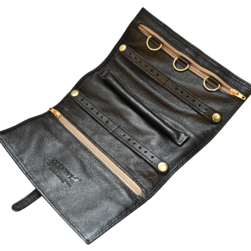Genuine Leather Jewellery Roll Personalised- Made in South Africa with custom personalistion- Journey Leather