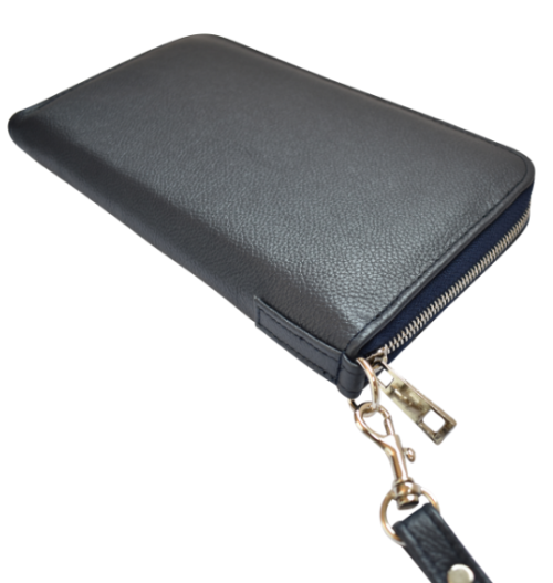 Genuine Leather Travel Wallet- made in South Africa with custom Personalisation -Navy