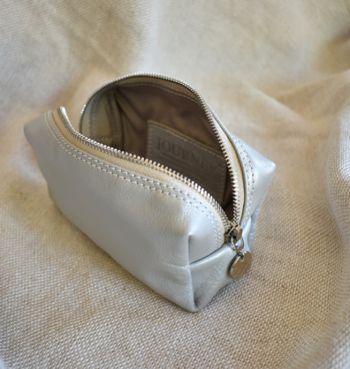 Genuine Leather Small Loaf MakeUp Bag with Personalisation Made in South Africa