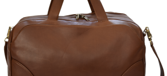 Genuine Leather Large Premium Travel Duffel Bag, Handcrafted in South Africa Classic Brown Silky Saddle