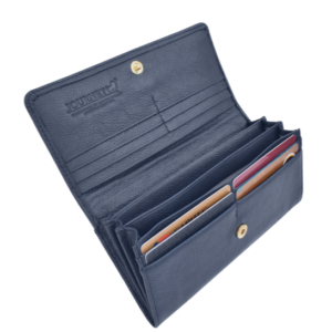 Genuine Leather Classic Ladies Purse, Proudly hand-crafted/Made in South Africa- Royal Navy Genuine Leather Card slots